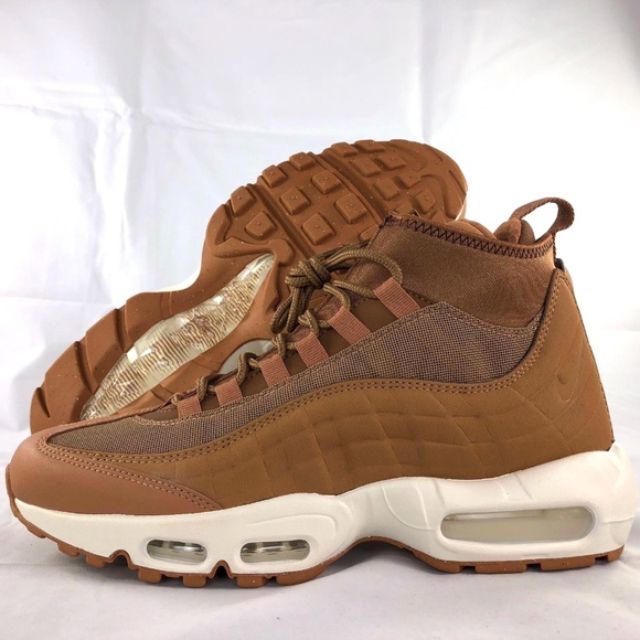 online store d00a2 40512 Nike Air Max 95 Sneakerboot Wheat Flax Brown White NWT